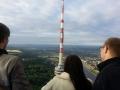 Vorbeifahrt am Fernsehturm mit einem Heisluftballon