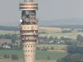 Dresdner Fernsehturm aus der Luft aufgenommen