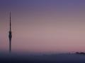 Turm im Nebel