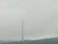 Fernsehturm Dresden im Nebel