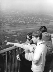 Aussichtplattform, Fernsehturm Dresden/Foto: © Ulrich Häßler, Bundesarchiv