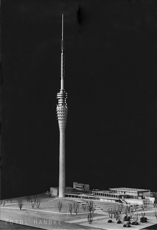 Modell Fernsehturm Dresden, Foto: Handke