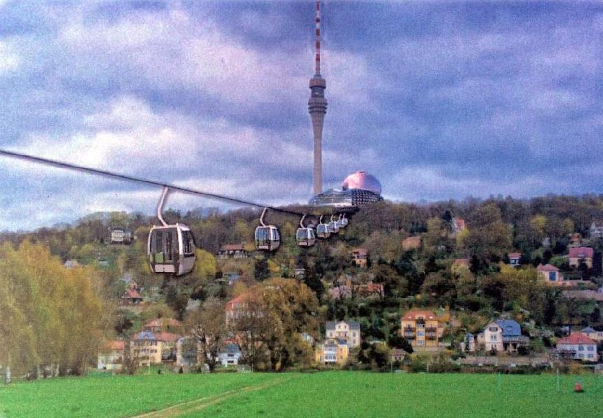 Bildmontage aus dem Exposé, Fernsehturm Dresden e.V.