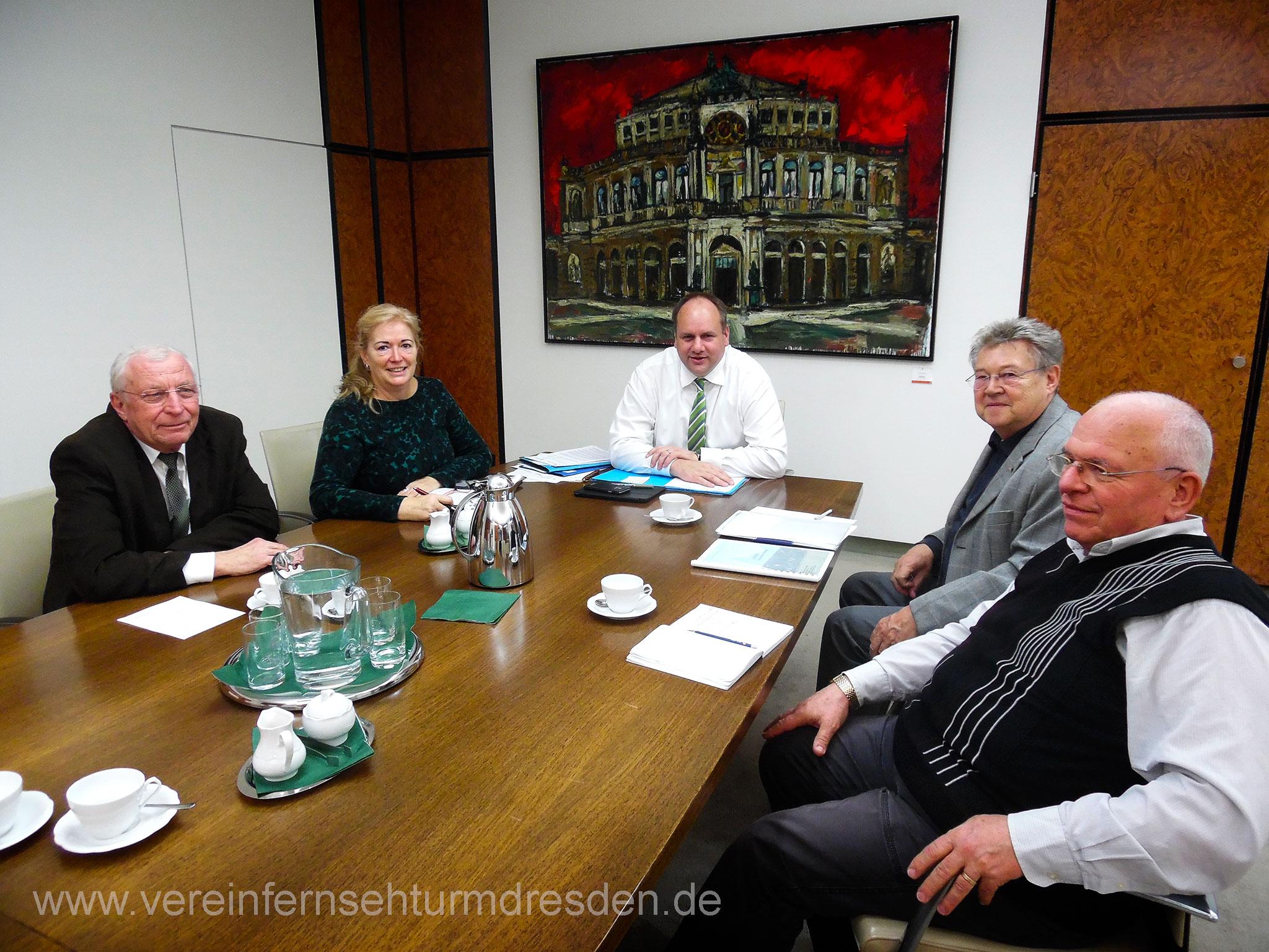Gesprächsrunde beim Dresdner Oberbürgermeister